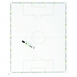 Lot de 3 Tableaux effaçables Taktifol football